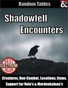 Shadowfell Encounters - Random Encounter Tables