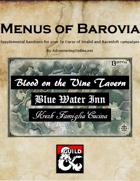 Menus of Barovia