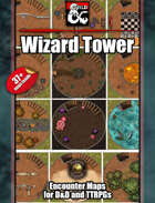 Endless Wizard Tower - 37+ maps - jpg/mp4 & Fantasy Grounds .mod
