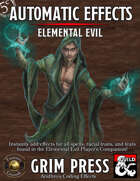 5E Automatic Effects - Elemental Evil Player's Companion (Fantasy Grounds)