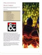 Organizations and Mass Combat