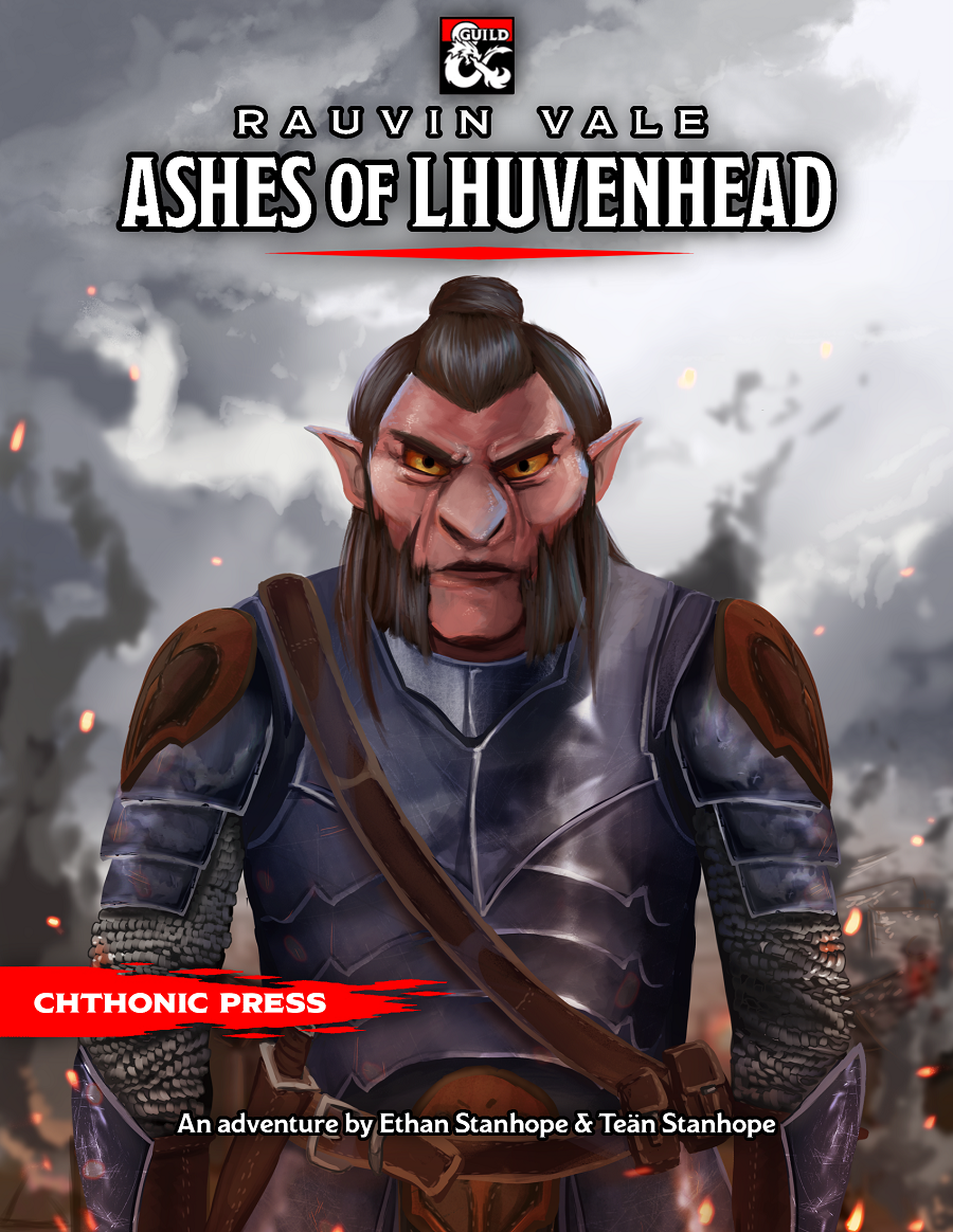 Cover of Rauvin Vale: Ashes of Lhuvenhead