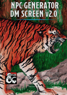 NPC Generator - DM Screen (for 5th edition) v.2.0