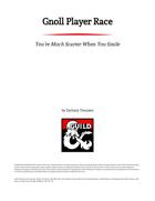 Gnoll Player Race