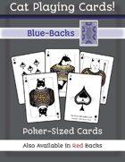Cat Poker Cards (Blue Back)