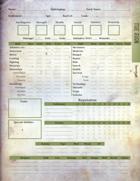 The Ruin D100 - Character Sheet