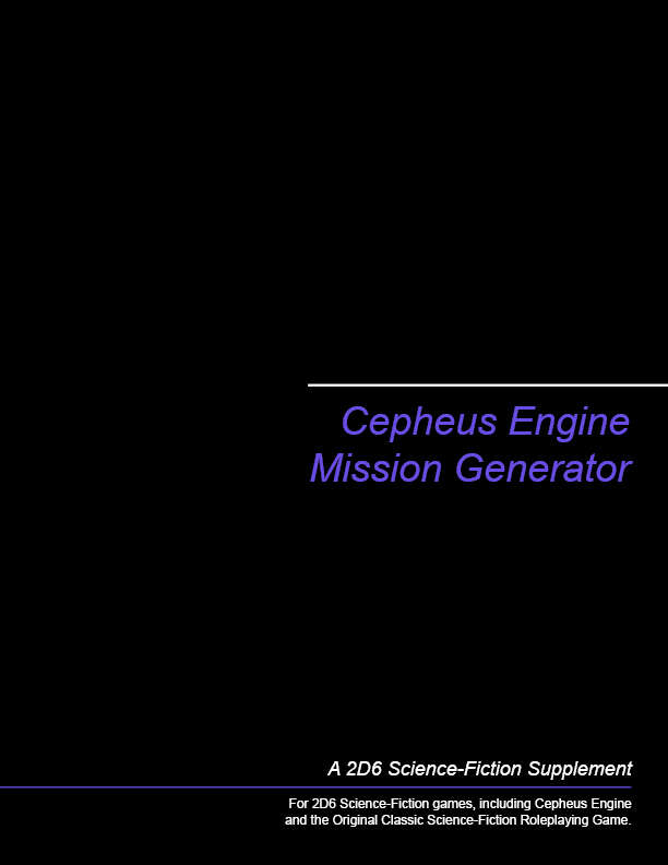 Cepheus Engine Mission Generator