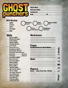 Ghost Punchers - Character Sheet
