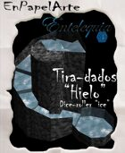 """Tira-dados Cascada circular """"Hielo""""(tabloide) Dice roller Circular cascade """"ICE"""""""