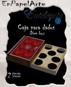 Caja de dados Libro Rojo / Book Dice box Red