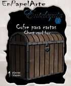 Cofre para cartas madera / Chest Card box wood