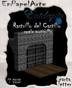 Rastrillo del castillo / Castle porticullis (Carta)
