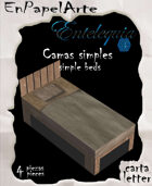 Camas simples Individuales/ Simple Beds single