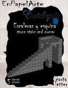 Escaleras y esquina del castillo / castle stairs and corner (Carta)