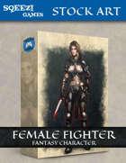 Stock Art: Female Fighter Fantasy Character