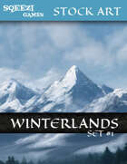 Stock Art Backgrounds: Winterlands Set 1