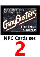 Gangbusters NPC cards set 2