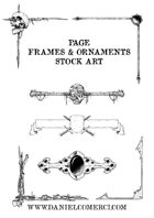 Page Frames & Ornaments Stock Art