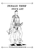 Female Thief Stock Art
