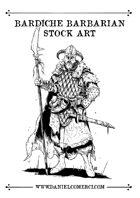 Bardiche Barbarian Stock Art