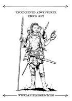 Encumbered Adventurer Stock Art