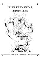 Fire Elemental Stock Art