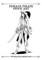 Female Pirate Stock Art