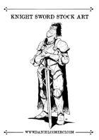 Knight Sword Stock Art