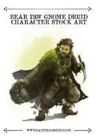 Gnome Druid Stock Art