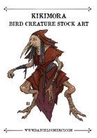 Kikimora Bird Creature Stock Art