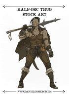 Half Orc Thug Stock Art