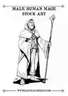 Male Human Mage Stock Art