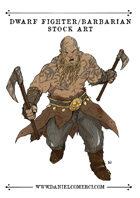 Male Dwarf Fighter Barbarian Stock Art