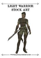 Female Light Warrior Stock Art