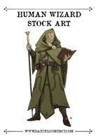 Male Human Wizard Stock Art