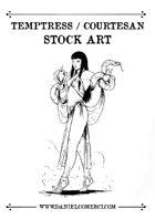 Temptress Courtesan Stock Art