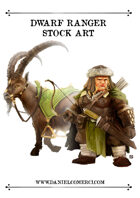 Dwarf Female Ranger Stock Art