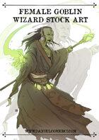 Female Goblin Wizard Stock Art