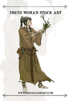 Druid Woman Stock Art