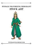 Female Wandering Merchant Stock Art