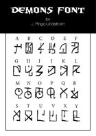 Demon Font - TTF Font File with Lifetime Commercial License