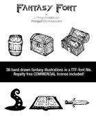 Fantasy Font - TTF Font File with Lifetime Commercial License