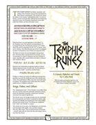 Uresia: The Temphis Runes (Font Set)