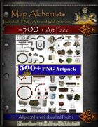 Art Pack For RPG Maps.  Over 500 Objects !!!