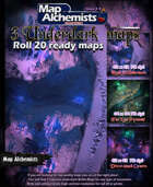 3 Underdark  Battle-Maps for Roll 20 and printing