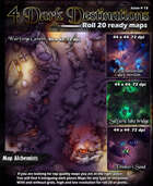 4 Dark destination Maps for Roll 20 and printing