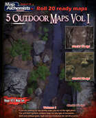 5 Outdoor Battle-Maps Volume I for Roll 20
