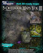 5 Outdoor  Battle-Maps Volume III for Roll 20