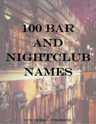 100 Bar and Nightclub Names
