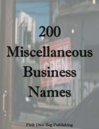 200 Miscellaneous Business Names